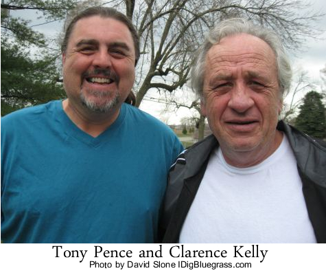 Tony Pence and Clarence Kelly at Clarence's Home in Fairborn, Ohio